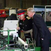 Reporting on the Queens' Award for new vegetable production machinery in Lincolnshire