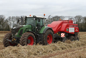 Baling miscanthus for biomass energy