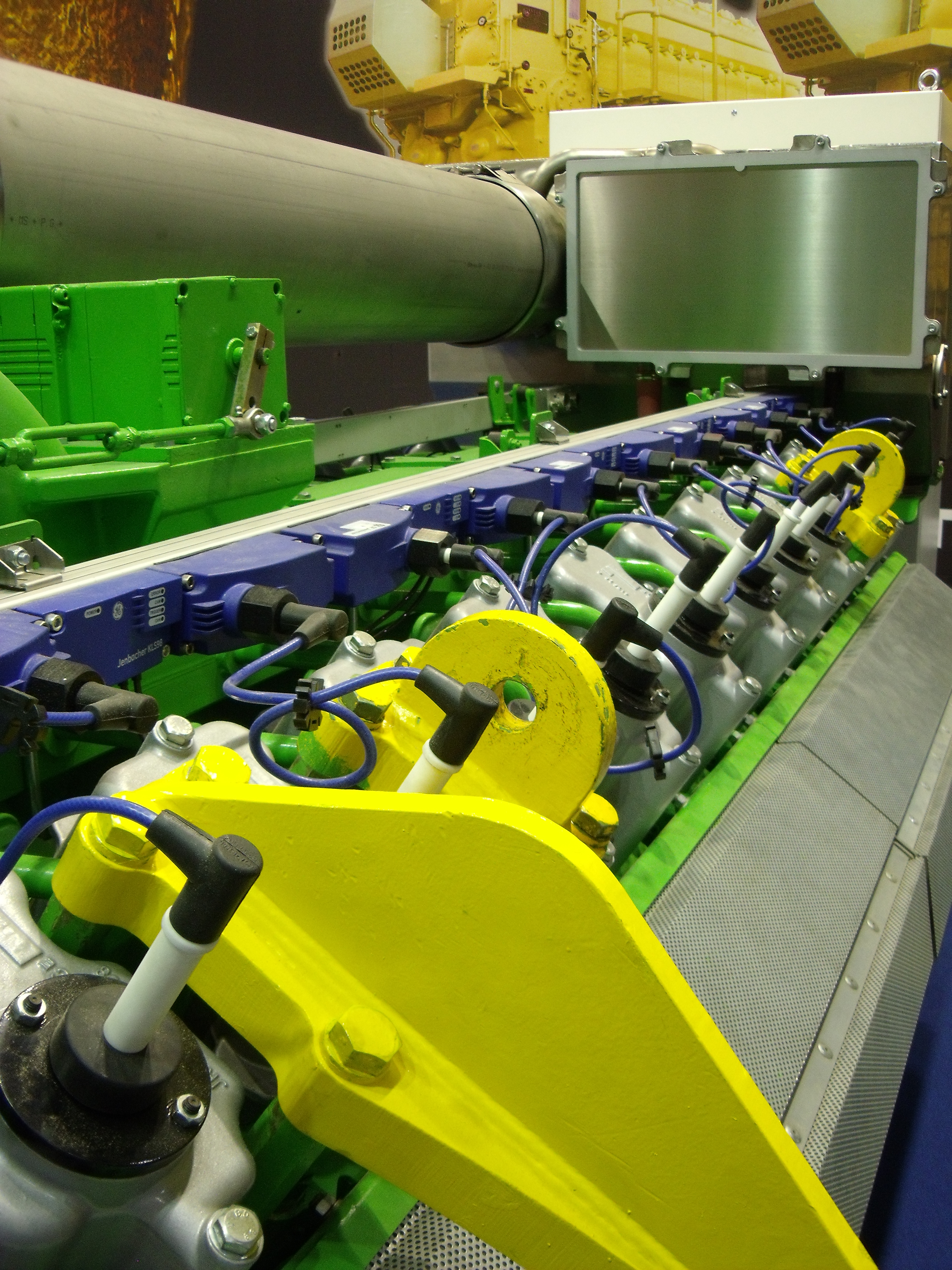 Biogas engine at Italian trade show