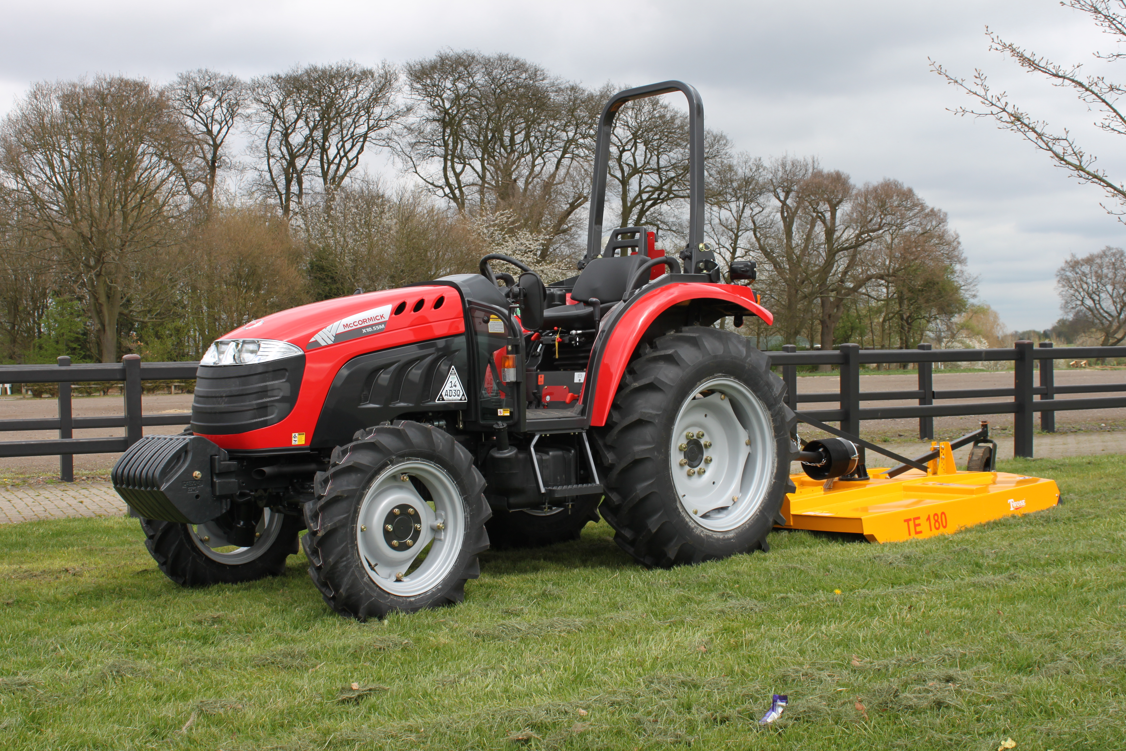 Horticultural tractor test drive