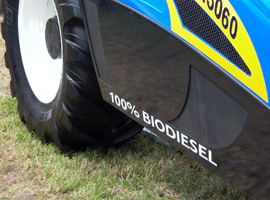New Holland Telehandler running on biodiesel at an agricultural showR016 biodiesel